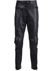 Juun.J Leather Trousers Black