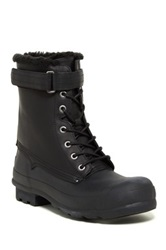 Hunter Original Genuine Sheepskin Lace Up Boot Black