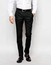 Ben Sherman Plain Suit Trousers Black