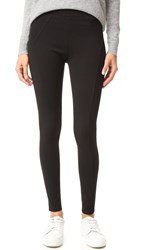 Three Dots Seamed Leggings Black