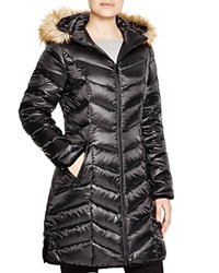 Dl2 By Dawn Levy Abby Faux Fur Trim Puffer Coat Black