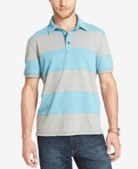 G.H. Bass And Co. Big And Tall Rugby Striped Polo Larkspur