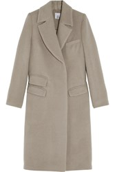 Iris And Ink Aimee Brushed Wool Coat Nude