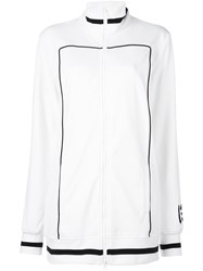 Puma Contrast Detailing Zip Up Cardi Coat White