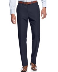Haggar Performance Microfiber Straight Fit Dress Pants Navy