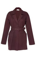 Isa Arfen Safari Cocoa Belted Jacket Brown