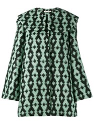 Emilia Wickstead Short Hooded Coat Green