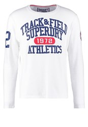 Superdry Trackster Long Sleeved Top Optic White