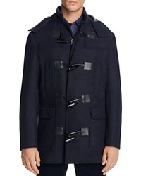 Michael Kors Double Faced Hooded Duffle Coat Midnight