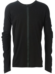 Isaac Sellam Experience 'Satirique' Long Sleeve T Shirt Black