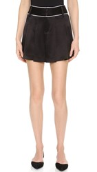 Alice Olivia Selina Flutter Shorts Black White