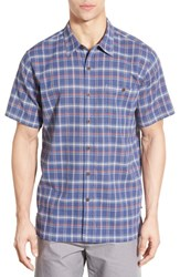 Men's Patagonia 'A C' Regular Fit Organic Cotton Short Sleeve Sport Shirt Traveller Channel Blue