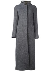 Herno 'Removable Lining Boucle' Coat Grey