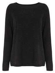 Phase Eight Alma Wrap Front Jumper Charcoal