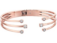 Michael Kors Mixed Shape Cz Open Cuff Bracelet With Hinge Back Rose Gold Bracelet