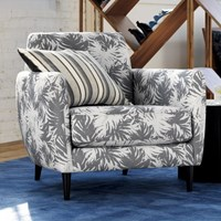 Cb2 The Hill Side Palm Leaves Parlour Chair