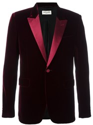 Saint Laurent 'Iconic Le Smoking 70'S' Blazer Red