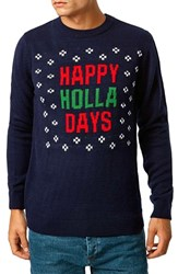 Men's Topman 'Happy Holla Days' Holiday Crewneck Sweater