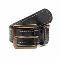 Dents Mens Casual Leather Belt Black