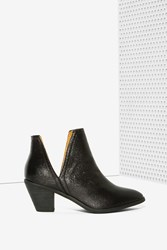 Nasty Gal If The Shoe Slits Glitter Ankle Boot