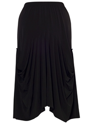 Chesca Draped Jersey Skirt Black