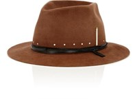 Nick Fouquet Men's The Maritime Fur Felt Fedora Brown Black Red Brown Black Red