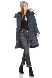 Canada Goose Rossclair Parka With Coyote Fur Trim Navy