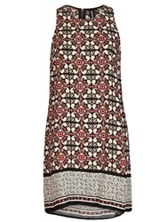 Izabel London Moorish Print Shift Dress Red