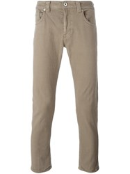 Dondup 'Mius' Slim Fit Trousers Nude And Neutrals