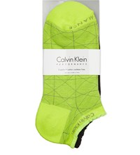 Calvin Klein Cotton Graphic Socks 93 Neon Yellow Black