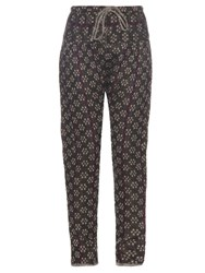 Ace And Jig Bazaar Textured Cotton Trousers Black Multi