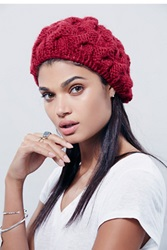 Free People Snow Bird Cable Beret