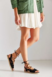 Urban Outfitters Anabelle Espadrille Flat Black
