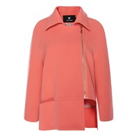 Judy Wu Cropped Trench Red Pink Purple