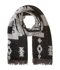 Michael Stars Mesa Steps Blanket Scarf Black Scarves