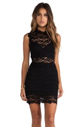 Nightcap Dixie Lace Cutout Dress Black
