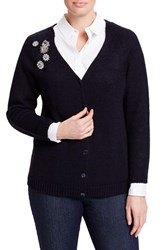 Persona By Marina Rinaldi Plus Size Women's Miceno Embellished V Neck Cardigan