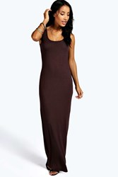 Boohoo Maxi Dress Chocolate