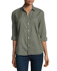 Frank And Eileen Eileen Cotton Blouse Army Green