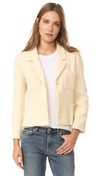 Wgaca Chanel Jacket Previously Owned Cream