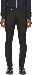 Neil Barrett Black Skinny Ribbed Biker Jeans