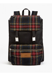 Ami Alexandre Mattiussi Men's Canvas And Tartan Backpack