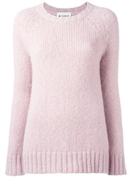 Dondup Round Neck Jumper Pink Purple