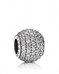Pandora Design Pandora Charm Sterling Silver And Cubic Zirconia Clear Pave Lights Moments Collection Silver Clear