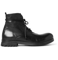 Marsell Leather Boots Black