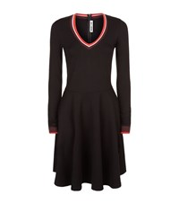 Mcq By Alexander Mcqueen V Neck Skater Dress Female Black