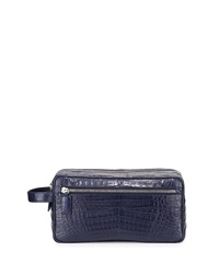 Santiago Gonzalez Crocodile Double Zip Travel Bag