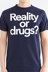 Urban Outfitters Reality Or Drugs Tee Navy