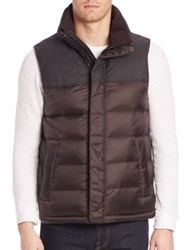 Tumi Quilted Sleeveless Vest Brown