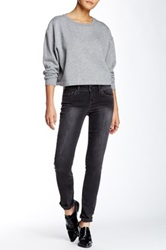 Level 99 Mid Rise Lily Skinny Straight Jean Gray